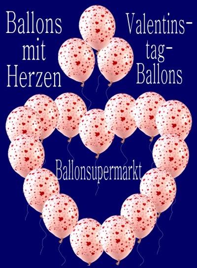 Originell zum Valentinstag: Ballons mit Herzen
