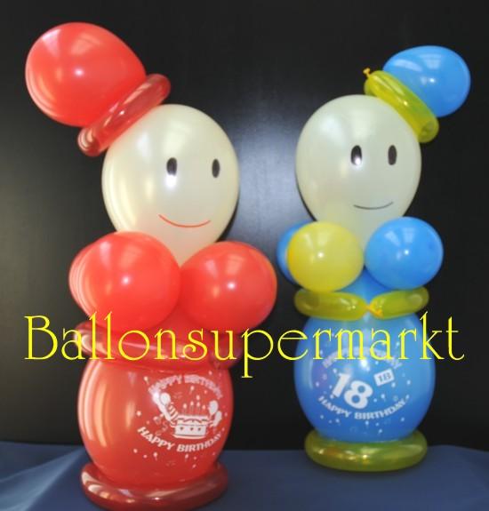 Mit Ballons die Umwelt bunt gemacht. Schau mal, wer da wieder lacht!